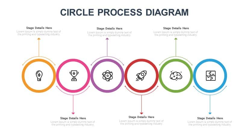 Circle Process Diagram Free PowerPoint Slide