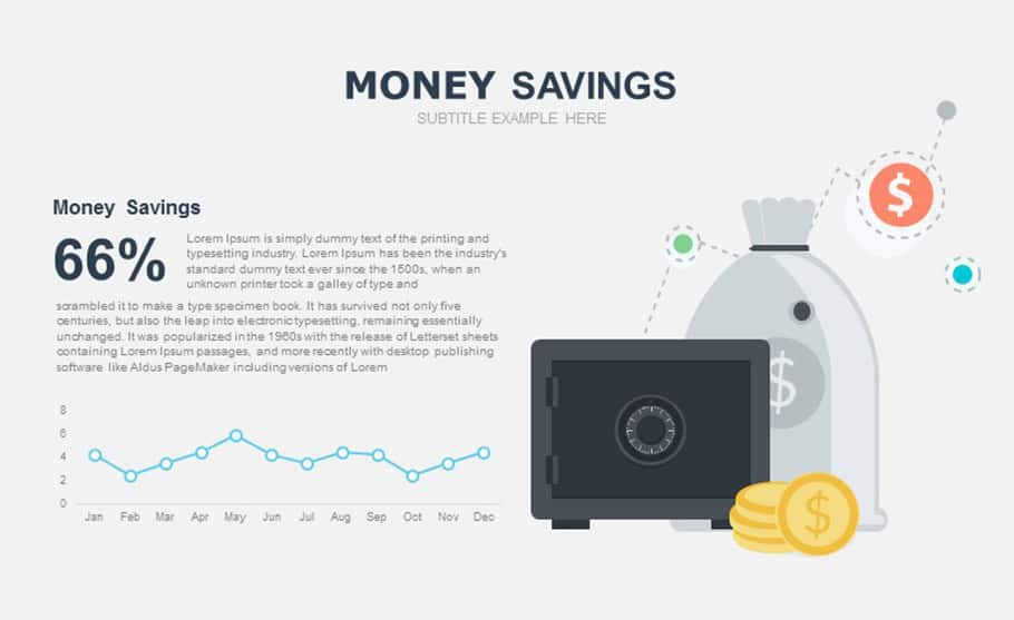 free money saving template for PowerPoint