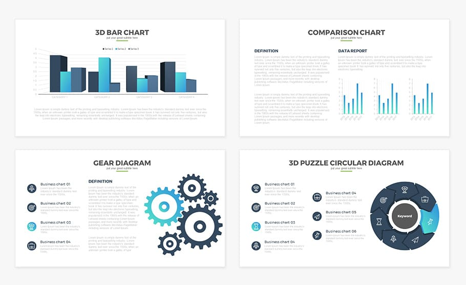 Free Report Multipurpose Powerpoint Template Slidecompass