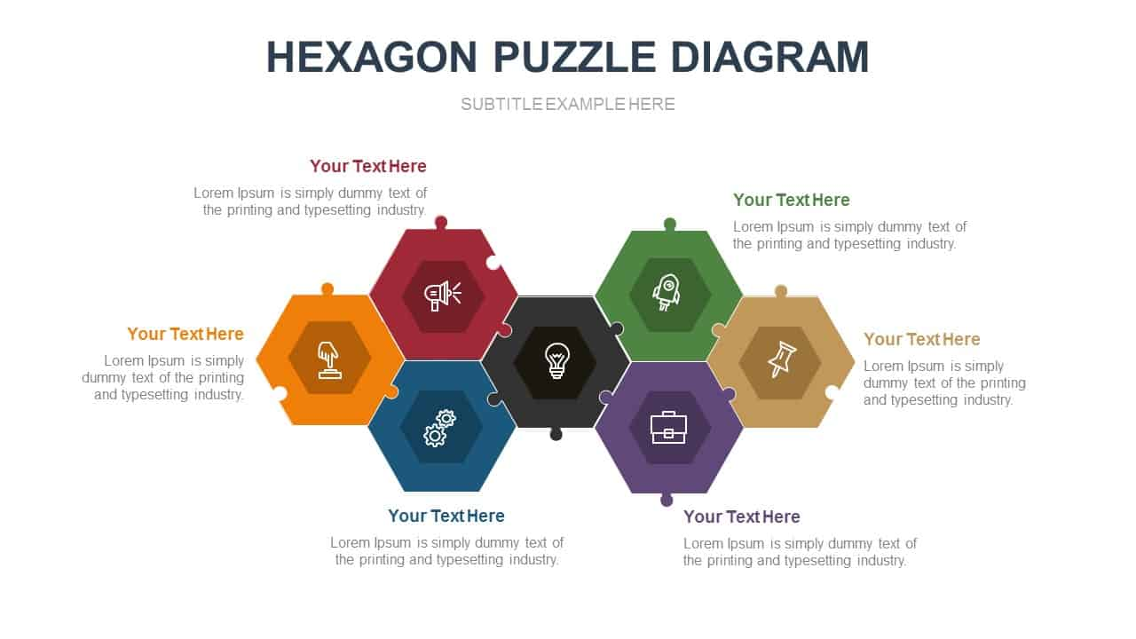 Hexagon Puzzle Diagram