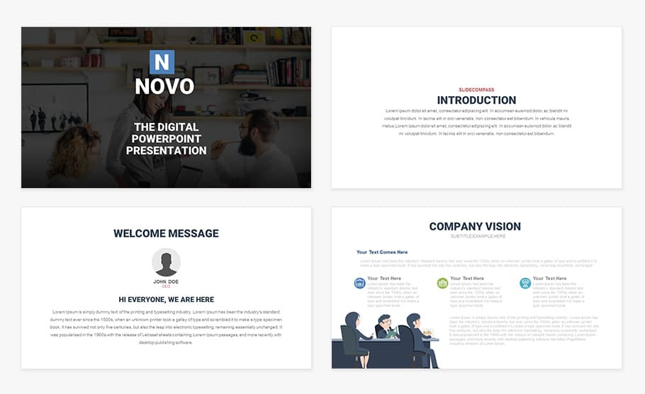 Free Novo Digital PowerPoint Template