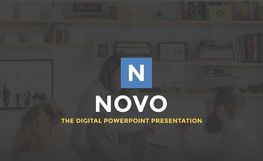 Novo digital PowerPoint template