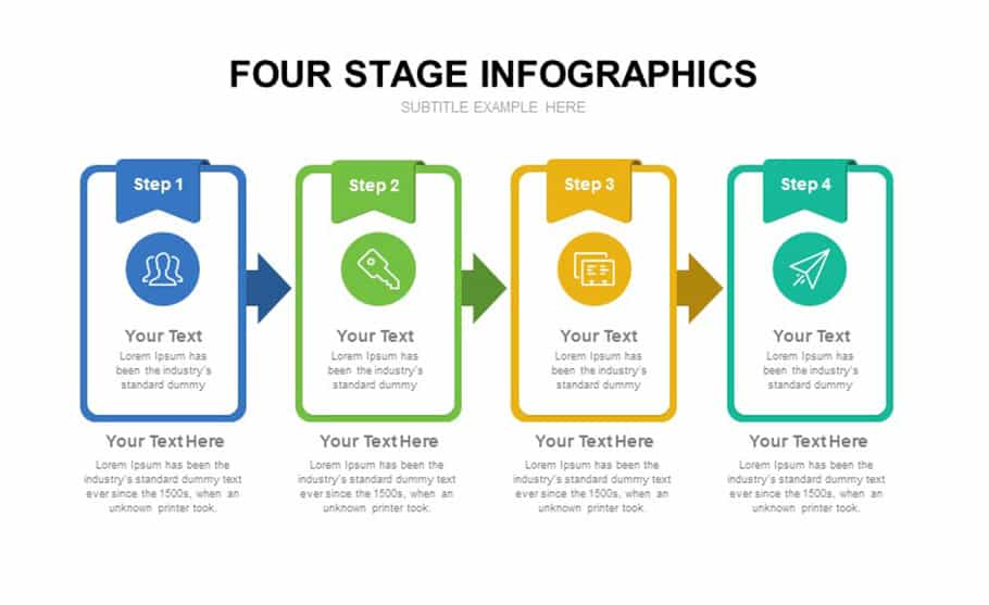 Four Stage Free Infographics Template for PowerPoint