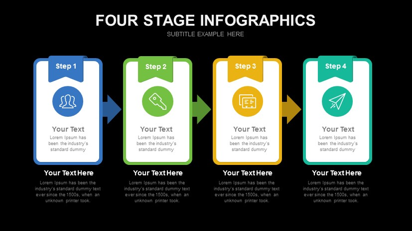 Four Stage Infographics Free Powerpoint Template