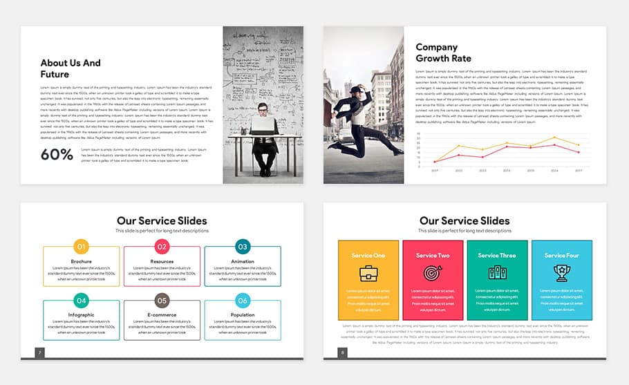 Free Light Multipurpose PowerPoint Template