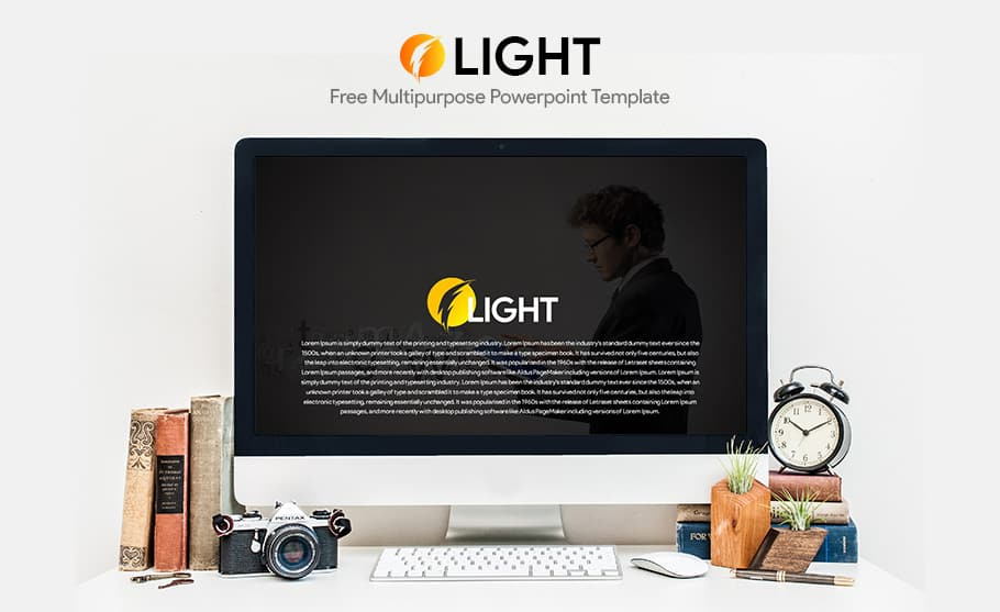free light multipurpose template for PowerPoint