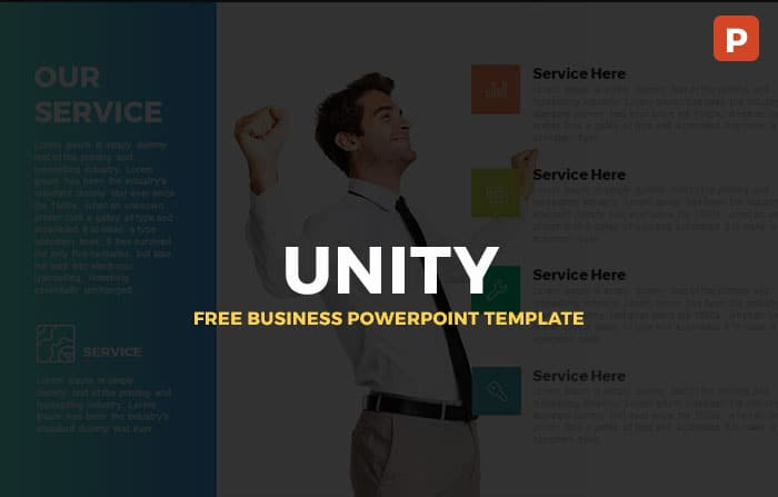 Free Unity Business PowerPoint Template