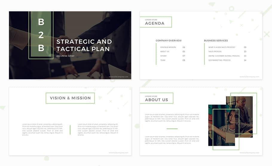 B2B marketing plan template for PowerPoint presentation
