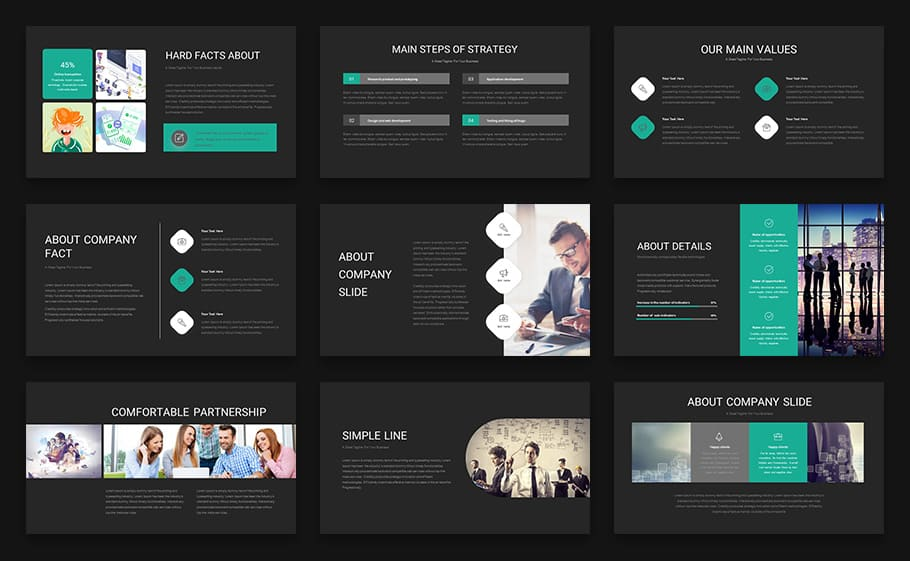 Business Presentation Template For Powerpoint Presentation