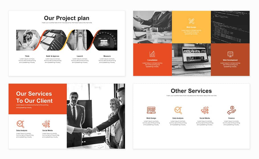 pitch deck template for business powerpoint presentation